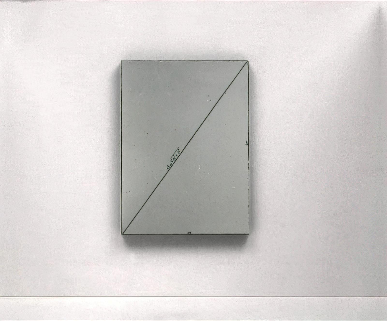 Bernar Venet - Calcul de la Diagonale d'un Rectangle