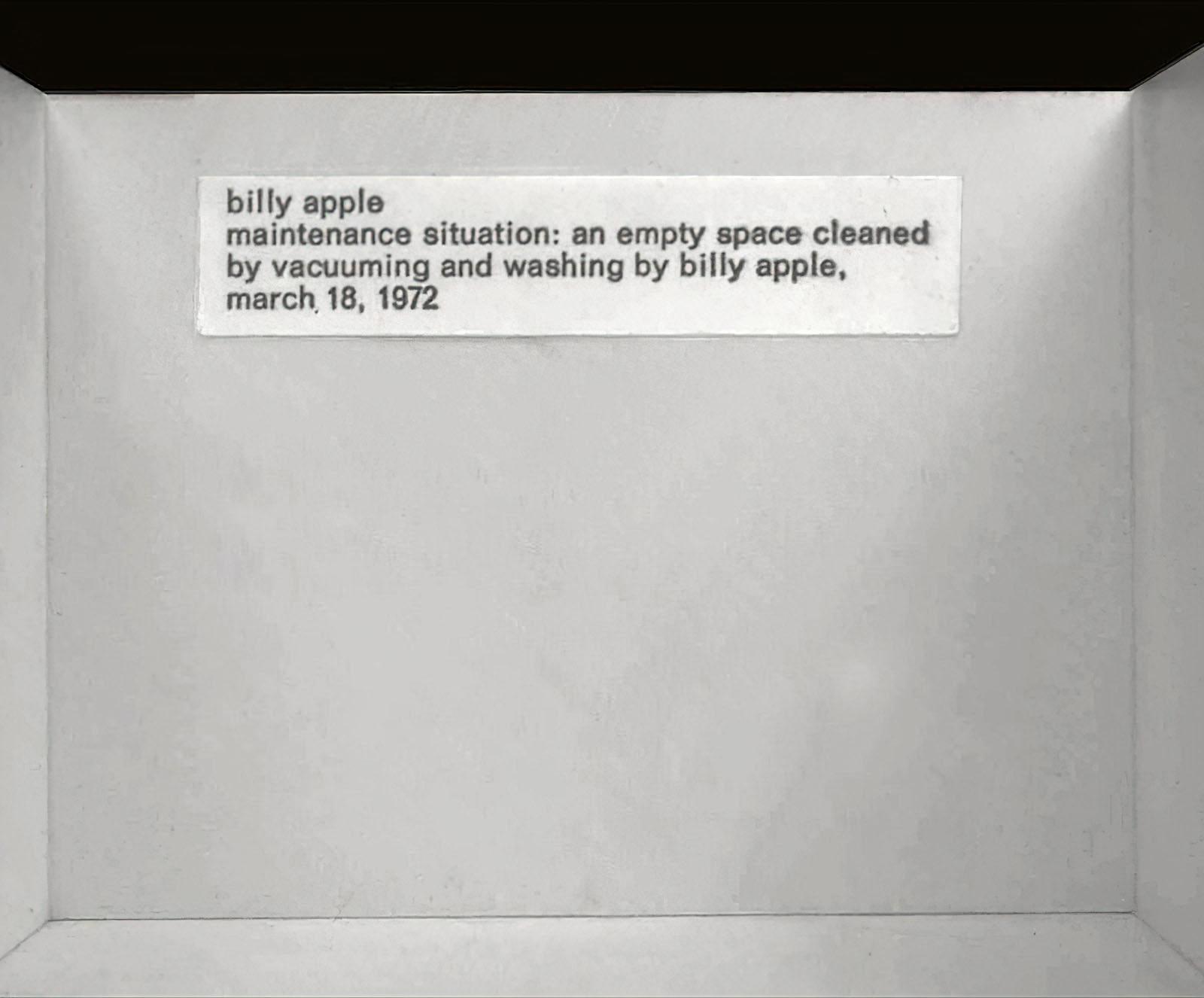 Billy Apple - Maintenance Situation