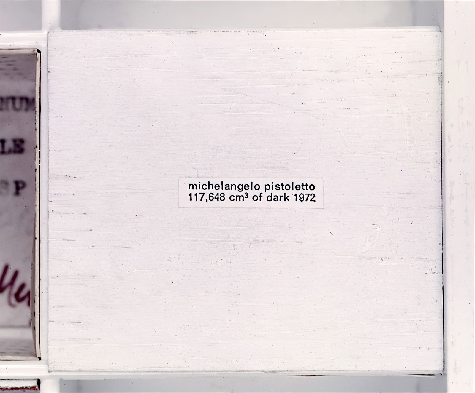Michelangelo Pistoletto - 117,648 cm³ of Dark