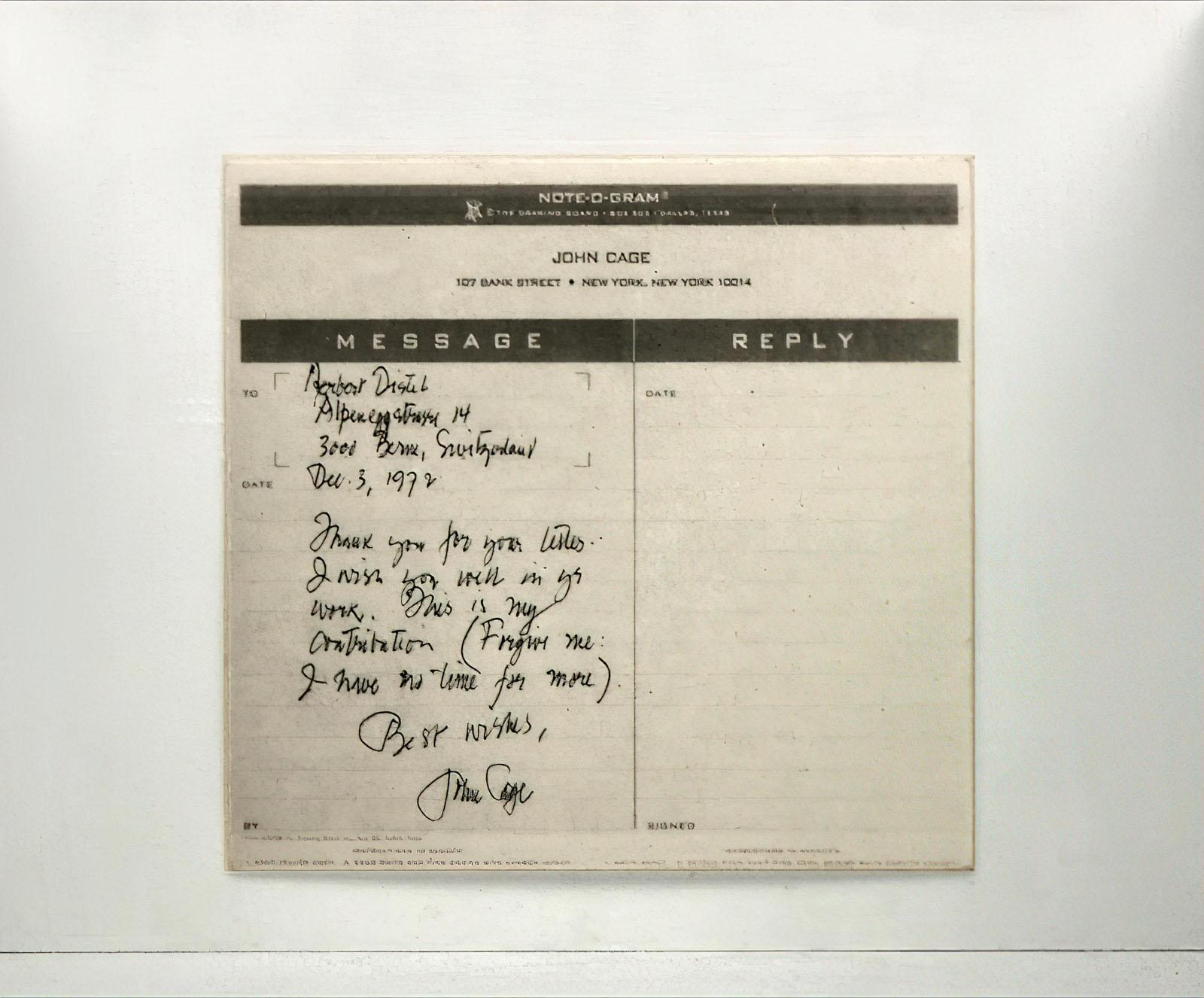 John Cage - Untitled