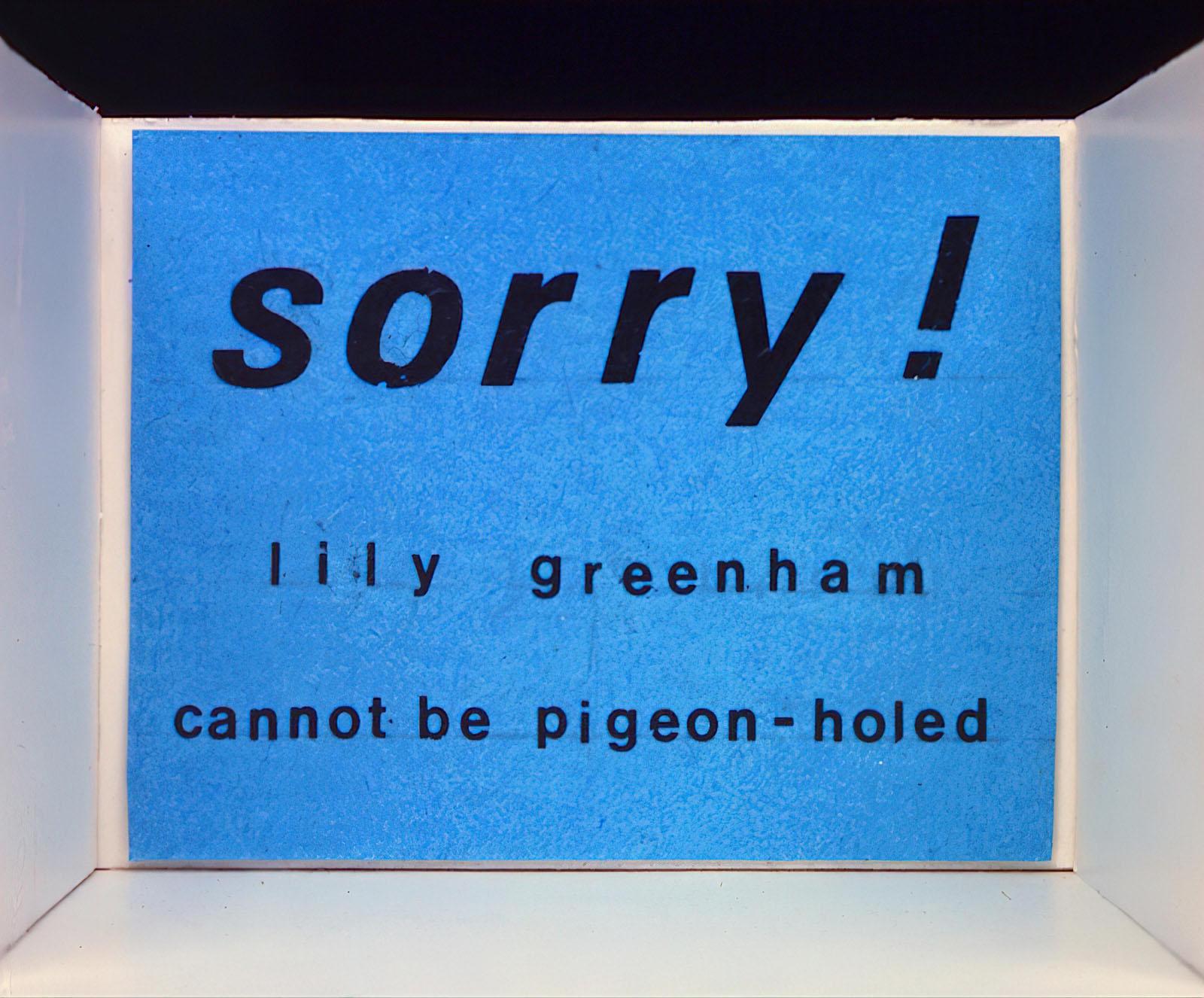 Lily Greenham - Untitled
