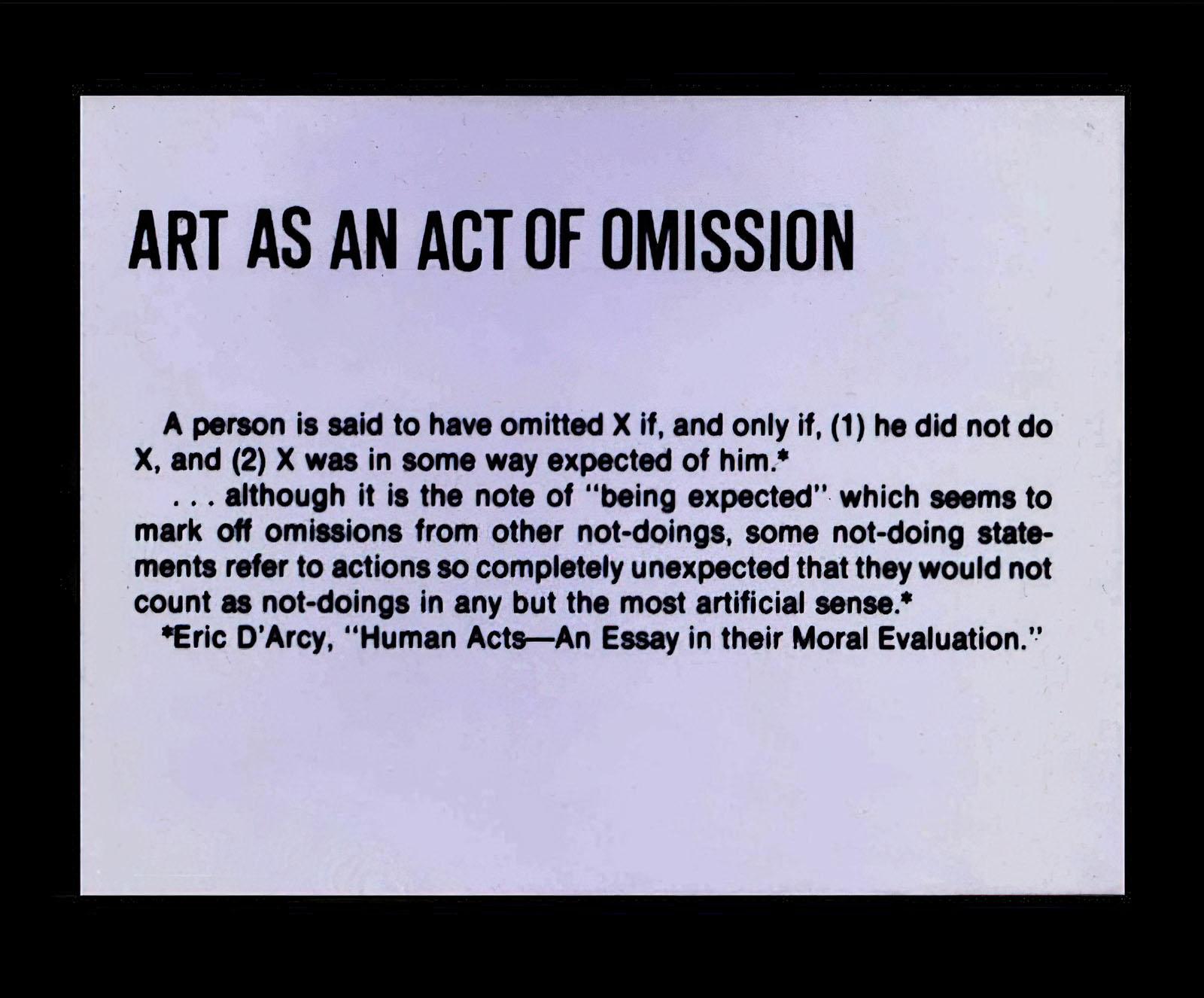 Keith Arnatt - Untitled