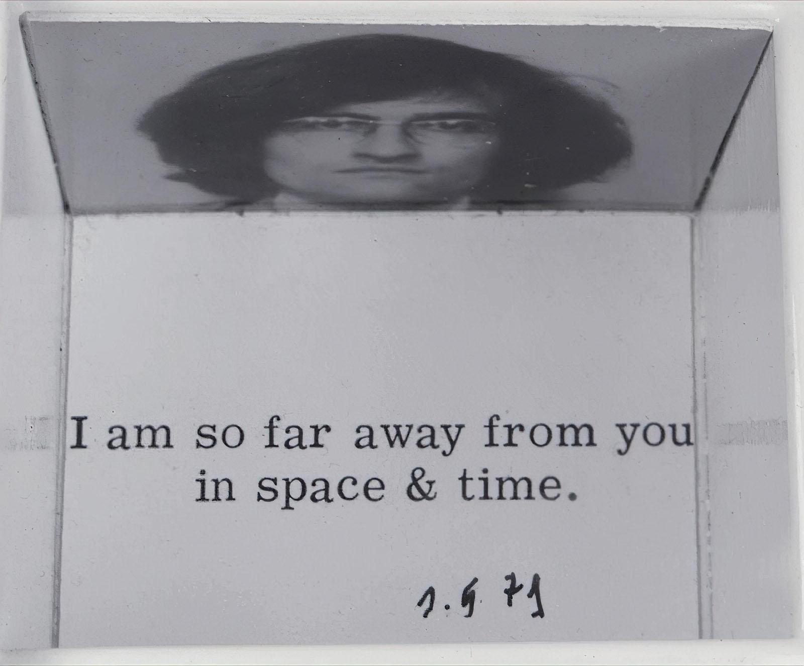 Jochen Gerz - Ich bin so weit von dir entfernt