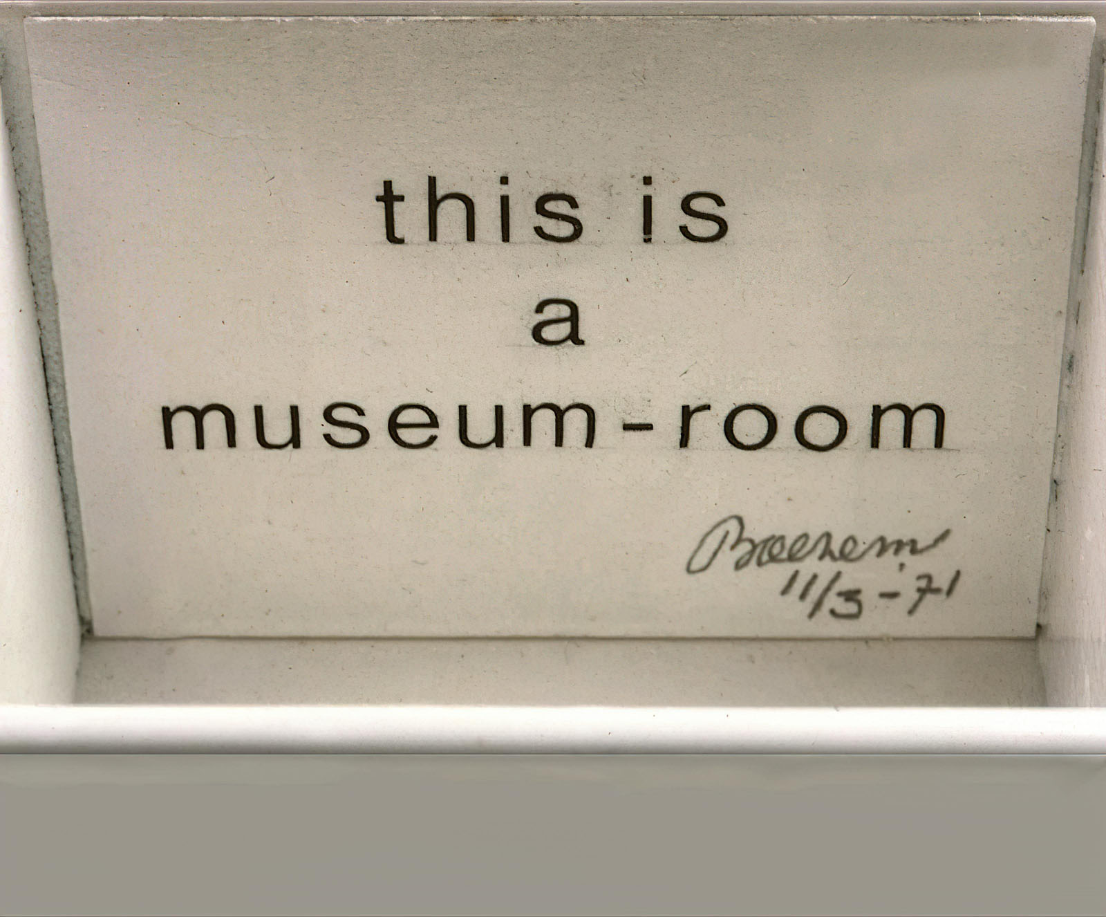 Marinus Boezem - This is a Museum Room